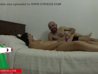 """sucks pussy and masturbates with a vibrator on the bed until he cums <span class=""""duration"""">- 27 min</span>"""