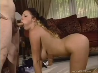 Big jugged Gianna Michaels gets a cock cramming before a creamy mouthful