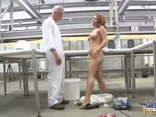 Big breasted babe has wild sex with older hunk