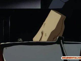 Roped การ์ตูนอะนิเม สหศึกษา gets ตูด การฉีด