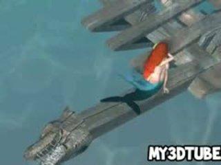 3D Little Mermaid Ariel Getting Fucked Underwater