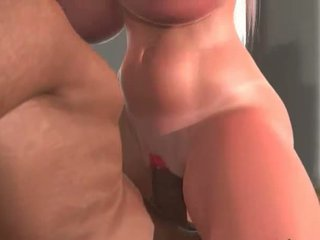 Interracial 3D sex