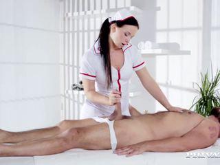 Naughty Natalee Nurses a Hard Cock