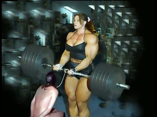 Female bina badan fbb bodybuilder bbw dominasi perempuan
