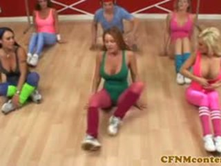 Cfnm femdoms bumaltak titi sa aerobics