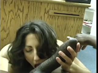 Asian-Pakistani Brunette sucks Big Black Dravidian Dick