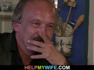舊的 丈夫 arranges 調皮 cuckolding