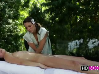 Malena Morgan and Lily Love lesbian massage