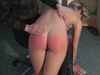 spanked, stripper, blonde