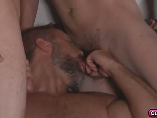 Dirk fucks 3 hot studs in stepfathers secret