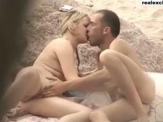 Candid Nude beach Sex tape Julia and Tim