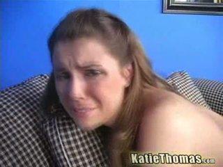 Katie bermain dengan two hitam cocks