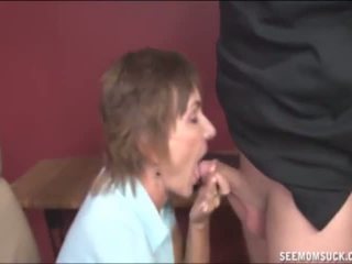Mature Lady Sucks a Naked Guy's Cock, Porn 41