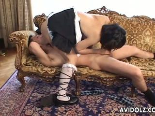 Asian Wife Has a Sexy Cosplay Session as a Maid: Porn 51