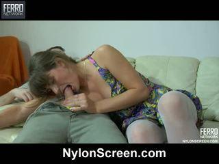 pupytės, nylon fetišas, nylon porn movies