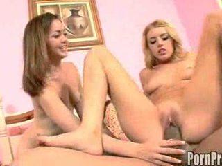 Teeny Bopper Babes in FFM Threesome Fun