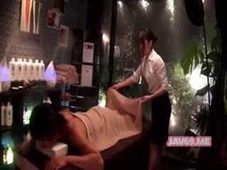 japonais, massage, caméras cachées, asiatique