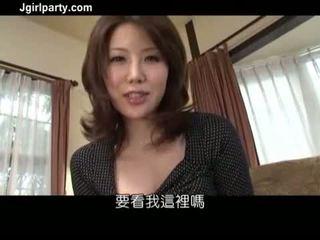 brunette, oral, japonais, vaginal masturbation