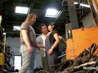German Mother Get Fuck By 2 Big Dick Dads At Work