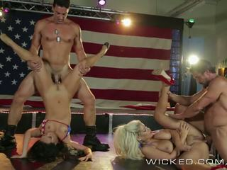 Wicked - Asa Akira and friends get ass fucked