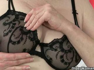British Grannies Zadi and Pearl in Stockings with...