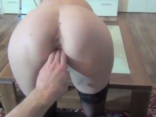 brunette, best toys, fresh anal sex any