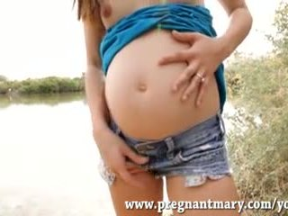 outdoors, big tits, pregnant
