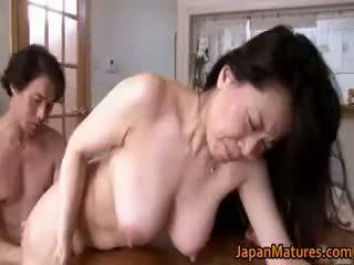 japonais, sexe de groupe, gros seins, anal