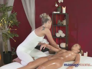 Massage RoomsTwo beautiful lesbians enjoy sensual and intense orgasms - Porn Video 621
