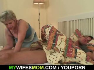 Scandalized Daughter Finds Her Old Mom Riding His Dick