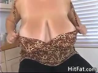 Pumping Out Breast Milk From Big Tits