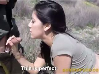Latina kimberly gates banged por border patrol oficial