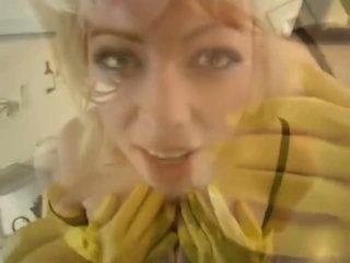 Adrianna nicole 에 yellow 고무 장갑 - 포르노를 비디오 841