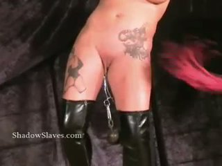 Pussy torture and needle bdsm of tattooed busty