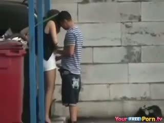 beste voyeur fin, blowjob, utendørs sjekk