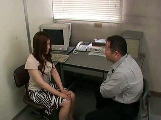 brunett, mager, kontor