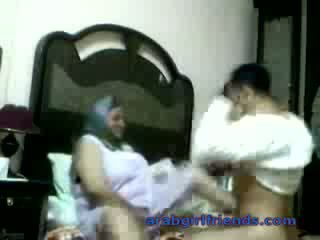 Horny Arab couple caught fucking by sp...