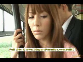 Rio אסייתי נוער בייב getting שלה שיערי כוס fondled ב the