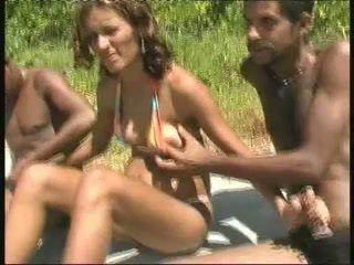 Brazilský těhotná šlapka gangbang