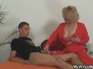 Wife leaves and her mother fucks son in law