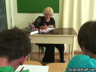 Old threesome in the classroom