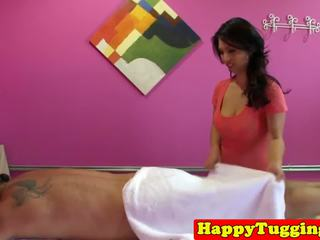 Bigtitted Asian Masseuse Tugging Client Cock: Free Porn a8