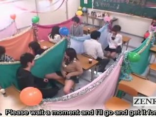 Subtitled اليابان schoolgirls حجرة الدراسة masturbation cafe