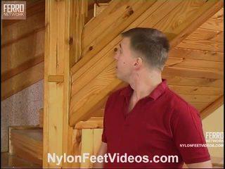 Clothilda και peter άτακτος/η ζαρτιέρες πόδια βίντεο