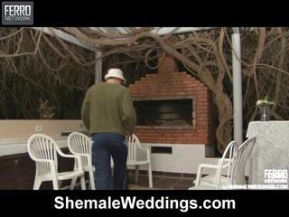 Caldi shemale weddings scena starring senna, rabeche, alessandra