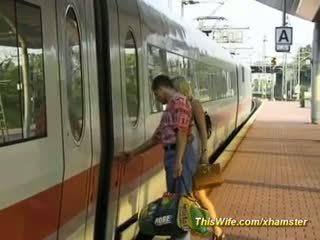 Joder en la tren