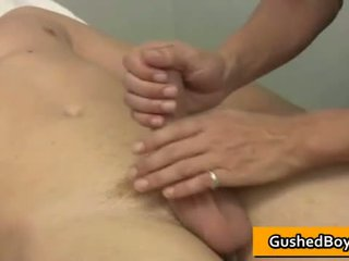 Gay clip of Blonde te-n dude gets