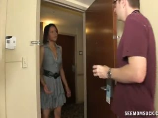 Blowjob i den hotel rom