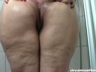 German BBW Samantha in the Shower HD