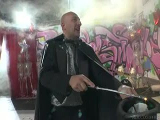 Sleaze angels dance ja omar galanti performs magic tricks.